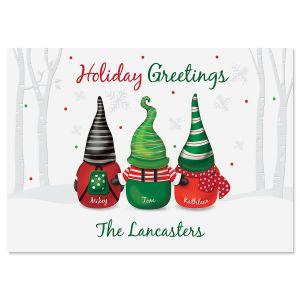 Gnome Family Christmas Cards