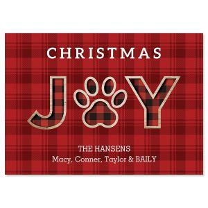 Joy Paw Christmas Cards