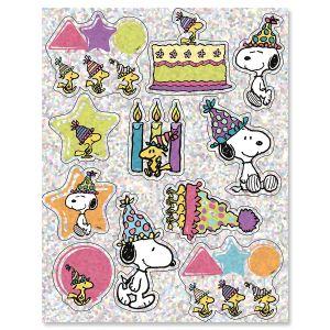 Celebrate PEANUTS® Sparkle Stickers