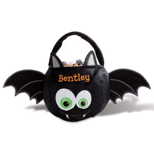 Personalized Halloween Bat Treat Basket