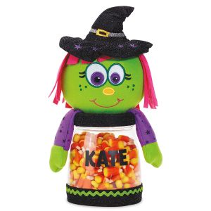 Halloween Witch Personalized Treat Jar