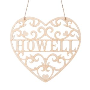 Loving Heart Personalized Wooden Plaque
