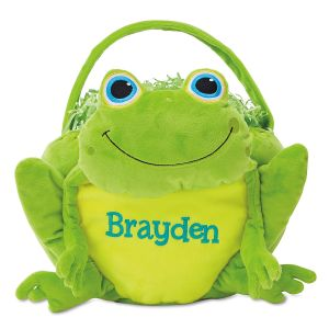 Personalized Frog Easter Basket