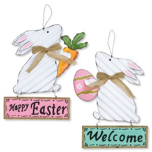 Ripple Easter Bunny Metal Sign