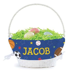 Personalized Sports Easter Basket with Liner