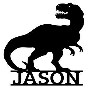 T-Rex Personalized Wooden Plaque - 2 Colors