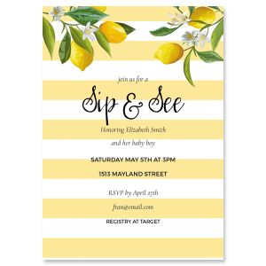 Personalized Life and Lemons Shower Invitation