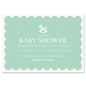 Personalized Rocking Horse Shower Invitation