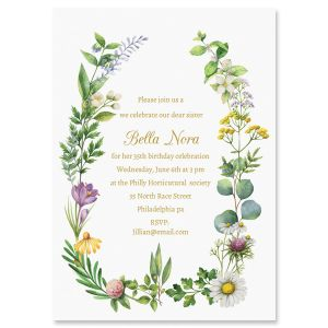 Personalized Larual Botanical Invitations