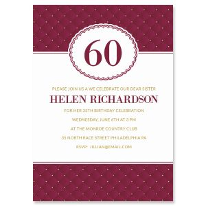 Personalized Plush Milestone Invitations