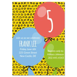 Personalized Balloon Birthday Invitations