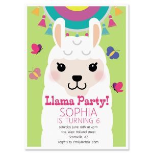 Personalized Llama Festival Birthday Invitation