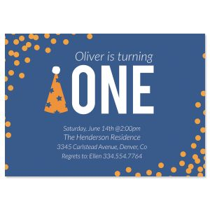 Personalized Party Hat Birthday Invitation