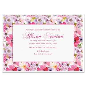 Personalized Bountiful Floral Invitations
