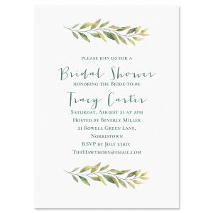 Personalized Fine Vine Invitations
