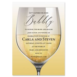 Personalized Glass of Bubbly Invitations