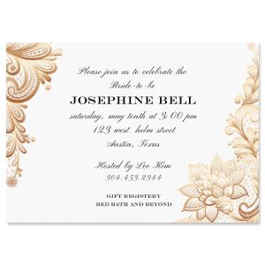 Personalized Gold Lace Invitations
