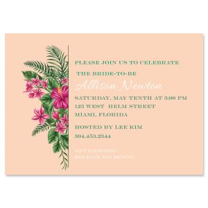 Personalized Lavish Tropical Invitations