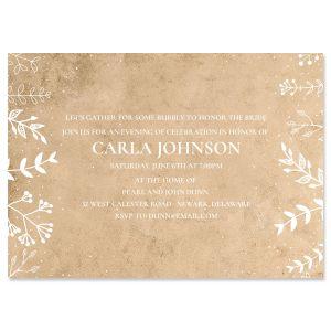 Personalized Natural Joy Invitations