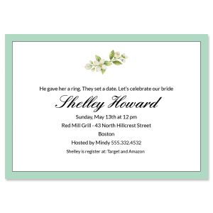 Personalized Teal Frame Invitations