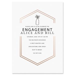 Personalized Bliss Engagement Invitations