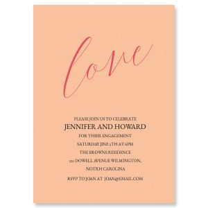 Personalized Love Engagement Invitations