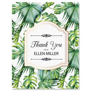 Personalized Palm & Gold Thank You Cards