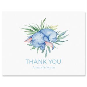Personalized Sleeping Elephant Thank You Cards