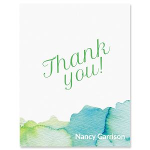 Personalized Watercolor Thank You Cards