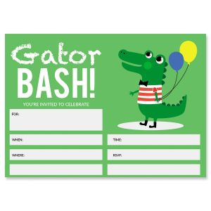 Gator Fill In Birthday Invitations