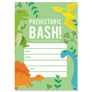 Prehistoric Bash Fill In Birthday Invitations