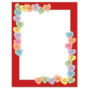 Candy Heart's Letter Paper