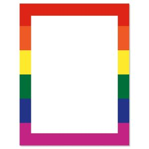 Rainbow Letter Paper