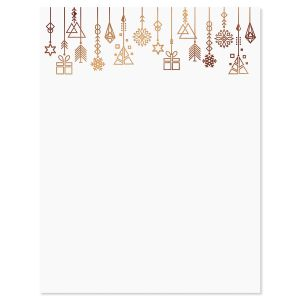 Foil Ornaments Christmas Letter Papers