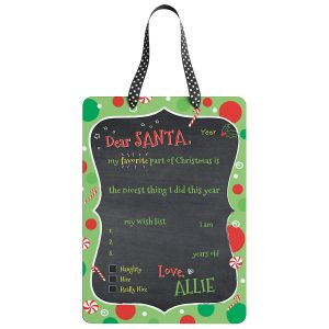 Dear Santa Personalized Christmas Plaque