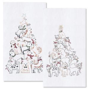 Pet Christmas Tree Towels