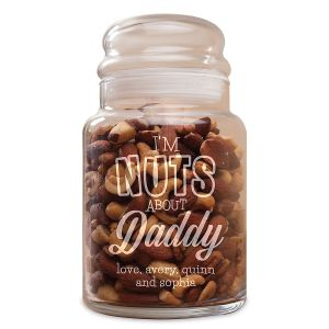 I'm Nuts About You Personalized Jar