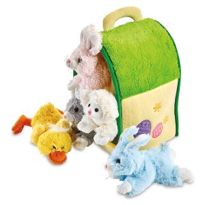 Plush Easter House with Animals