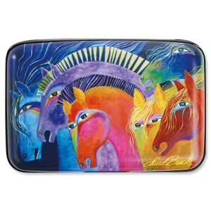 Laurel Burch Wild Horses RFID-Safe Armored Wallet