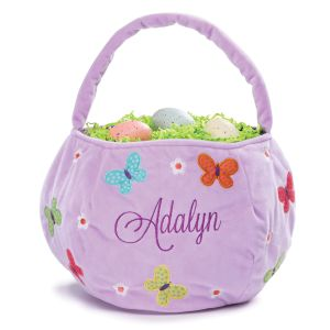 Personalized Lavender Butterfly Easter Basket