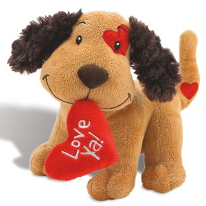 Plush Valentines Puppy