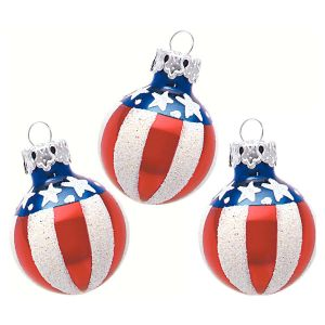Americana Mouthblown Glass Ornaments