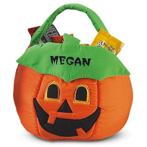 Personalized Halloween Jack-o'-Lantern Treat Basket
