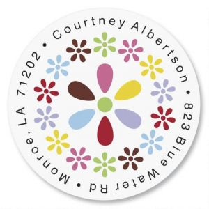 Hopscotch Round Address Labels