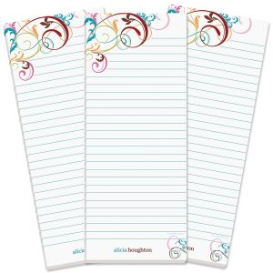 Fantasia Lined Shopping List Pads