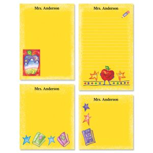 Teacher Personalized Yellow Notepad Set