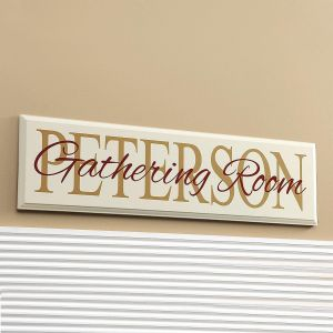 """Gathering Room"" Wooden Plaque"