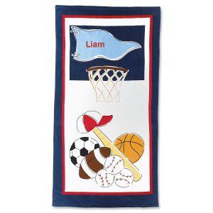 Sports Personalized Beach Towel