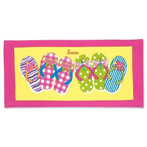 Personalized Flip-Flops Beach Towel