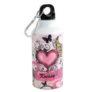 Butterfly/Hearts Water Bottle